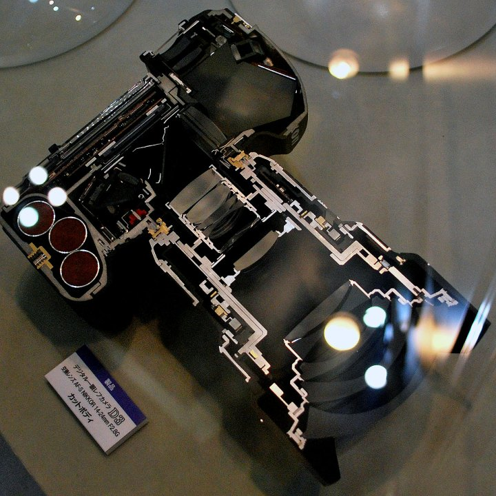Nikon D3 cut in half