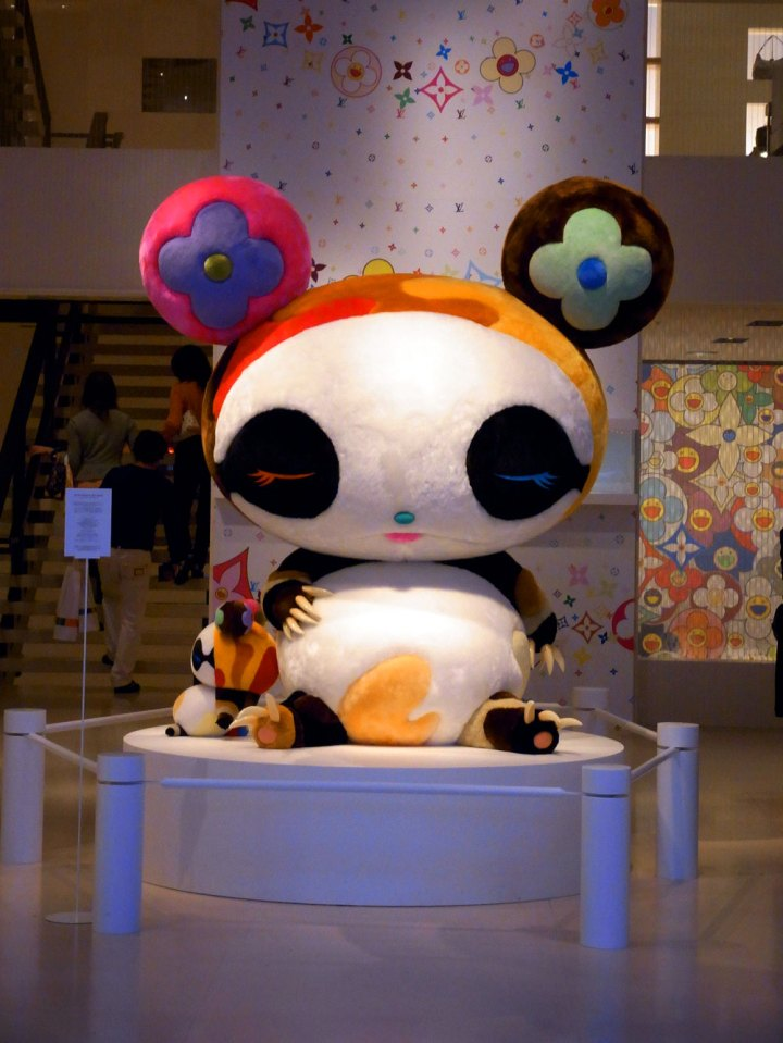 Lovely panda on display at the Vuitton shop in Omotesando